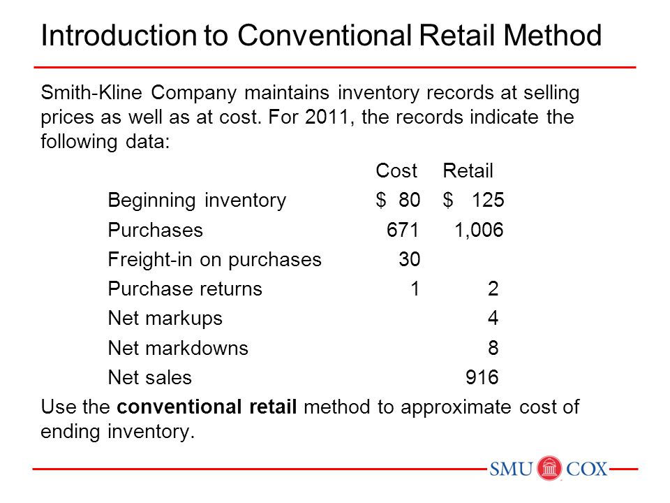 Introduction to Conventional Retail Method