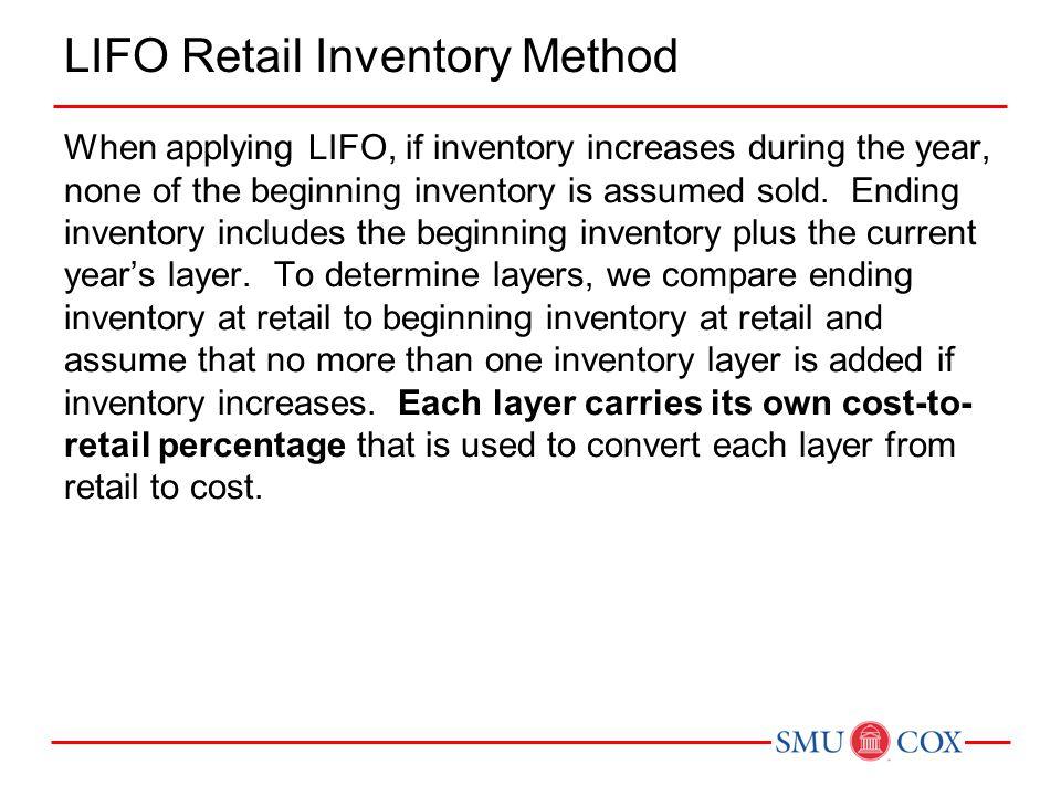LIFO Retail Inventory Method