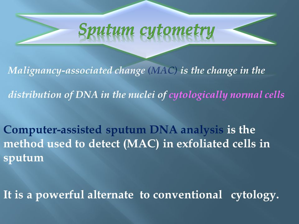 Sputum cytometry Sputum cytometry