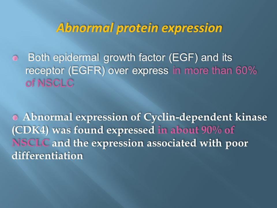 Abnormal protein expression