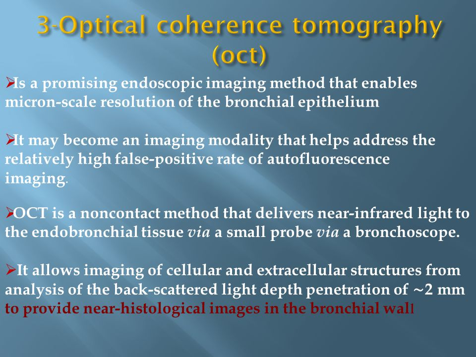 3-Optical coherence tomography (oct)