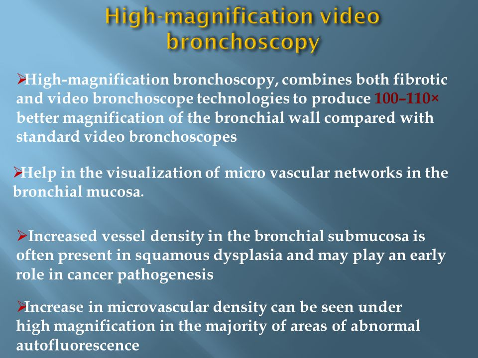 High-magnification video bronchoscopy