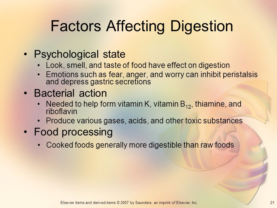Factors Affecting Digestion