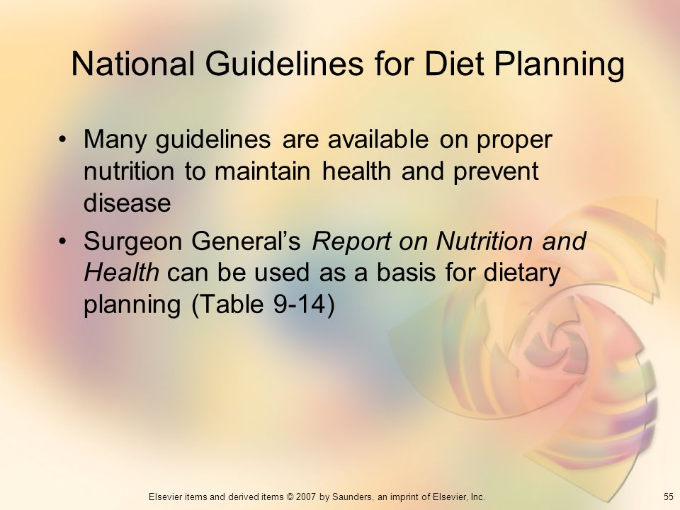 National Guidelines for Diet Planning
