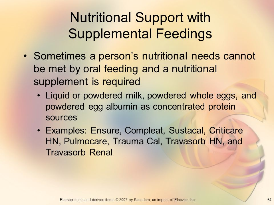Nutritional Support with Supplemental Feedings