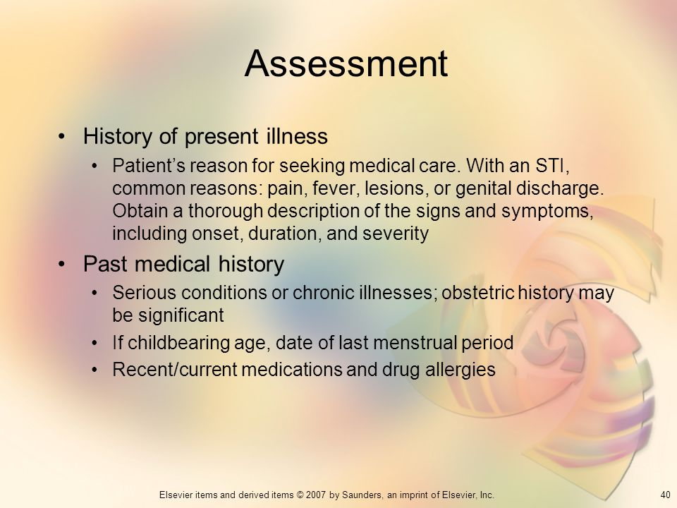 Assessment History of present illness Past medical history