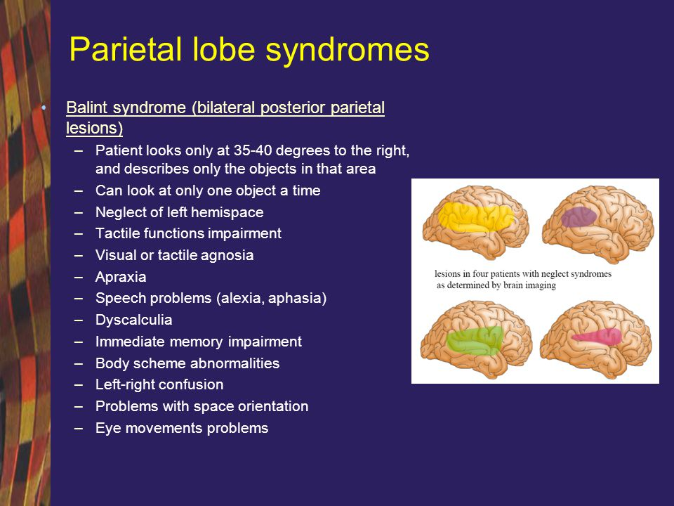 Parietal lobe syndromes