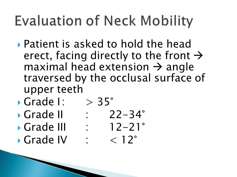 Evaluation of Neck Mobility