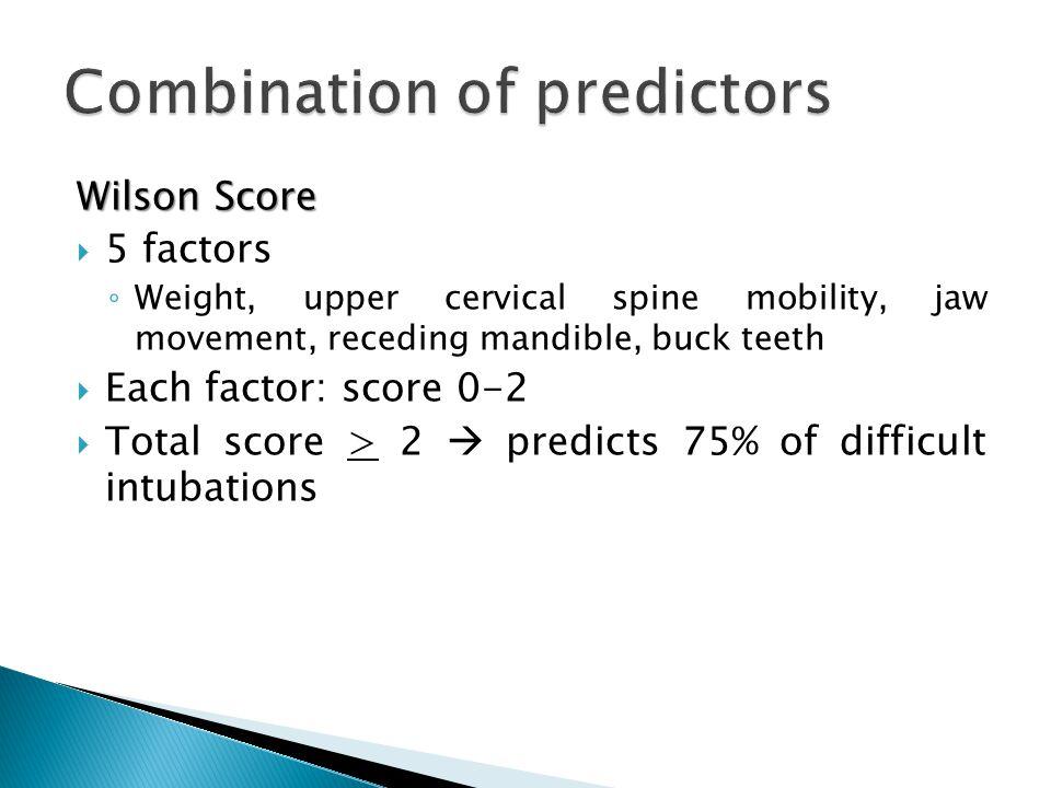 Combination of predictors