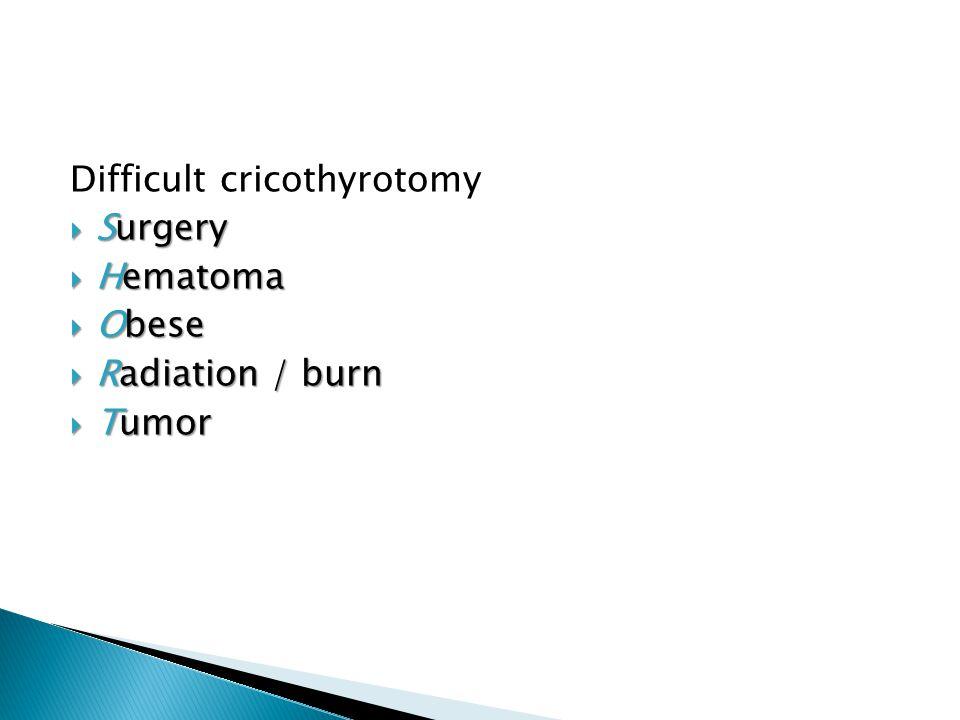 Difficult cricothyrotomy