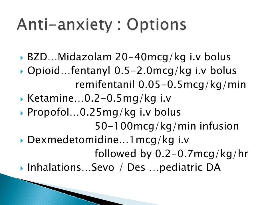 Anti-anxiety : Options