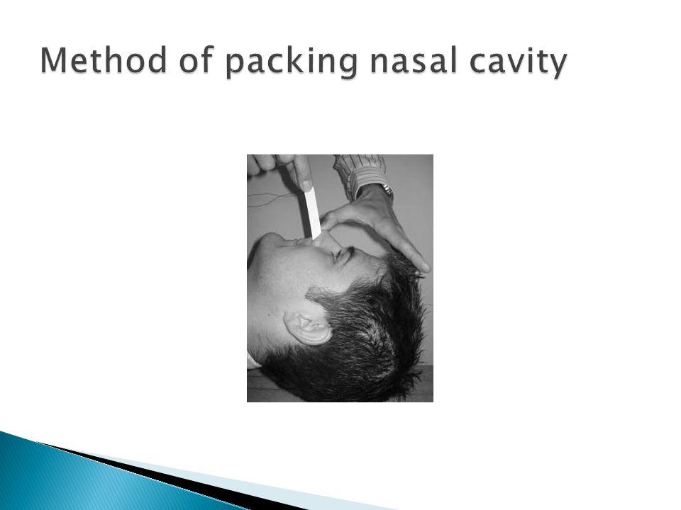 Method of packing nasal cavity