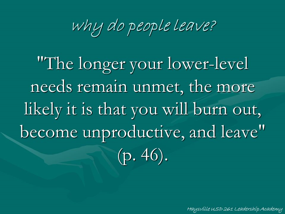 why do people leave