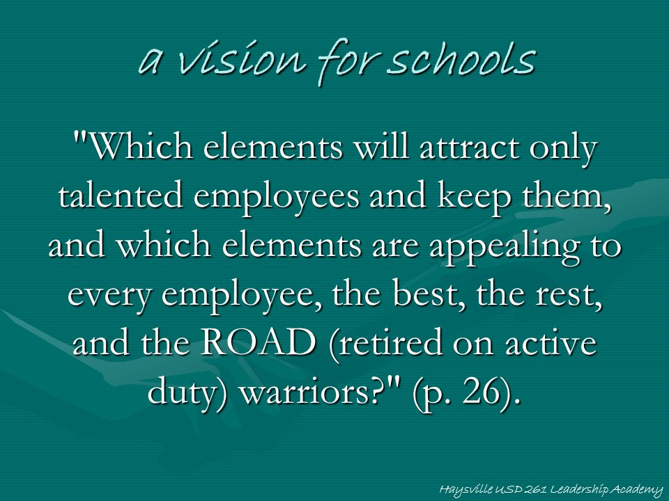 a vision for schools