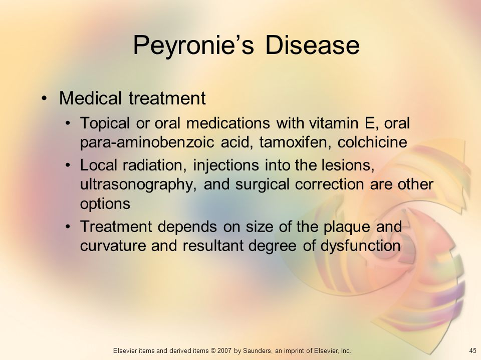 Peyronie's Disease Medical treatment