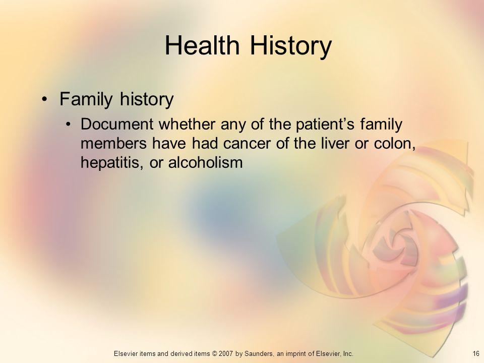 Health History Family history