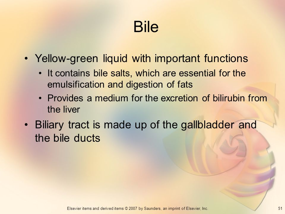 Bile Yellow-green liquid with important functions