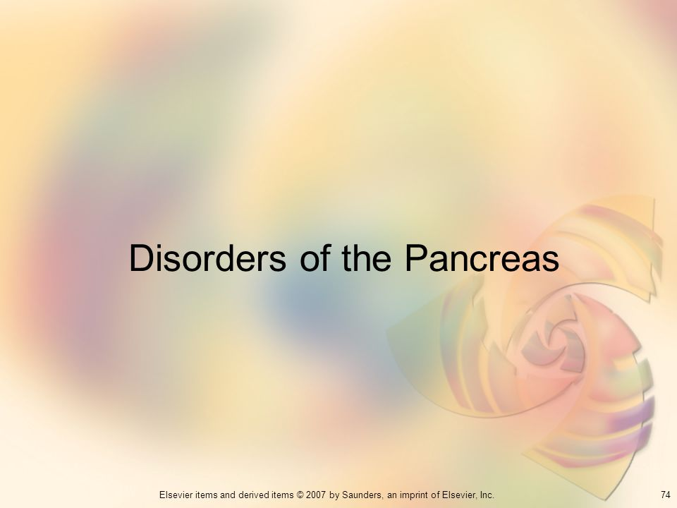 Disorders of the Pancreas