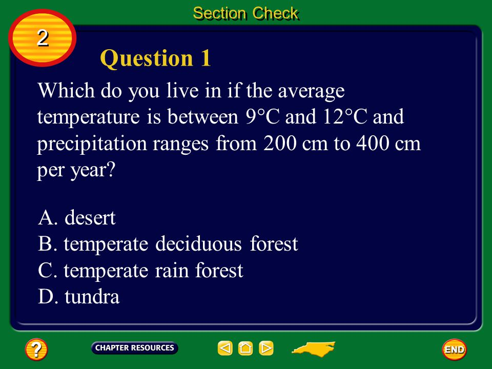 Question 1 2 Which do you live in if the average