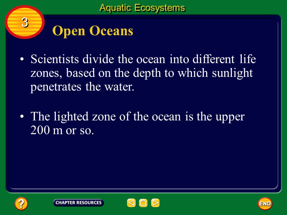 Aquatic Ecosystems 3. Open Oceans.
