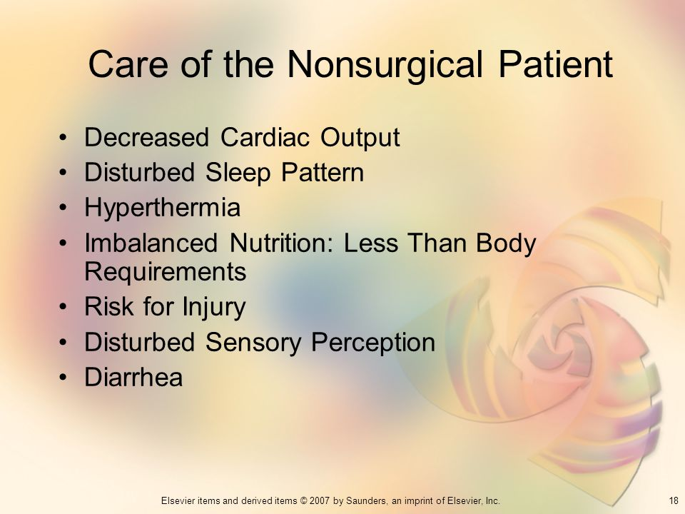 Care of the Nonsurgical Patient