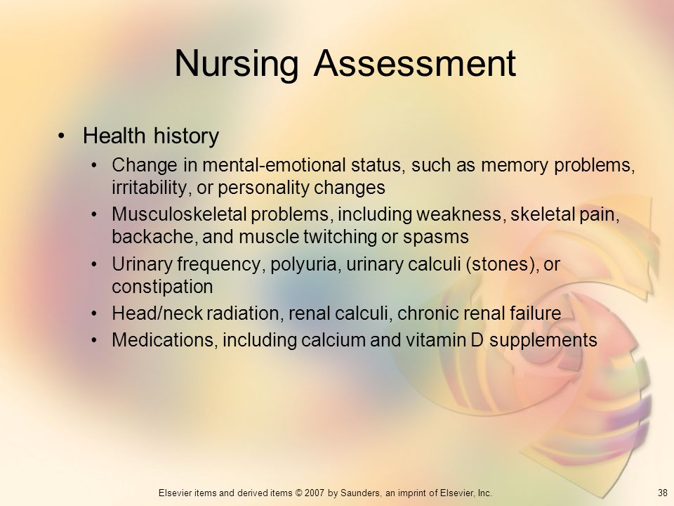 Nursing Assessment Health history