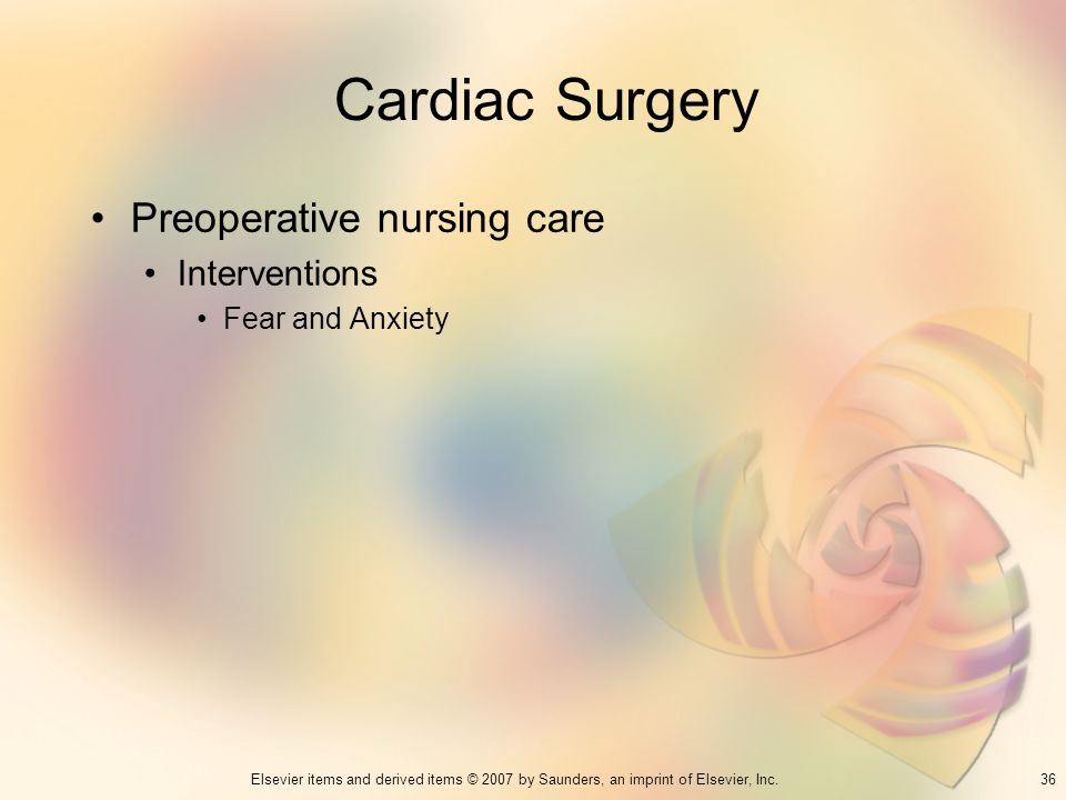 Cardiac Surgery Preoperative nursing care Interventions
