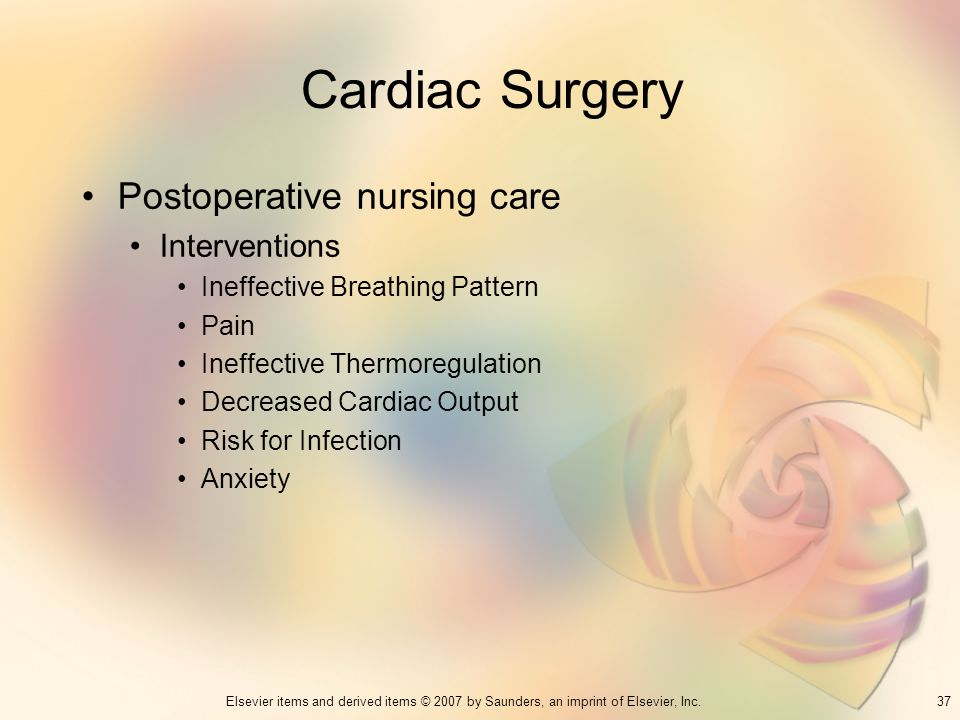 Cardiac Surgery Postoperative nursing care Interventions