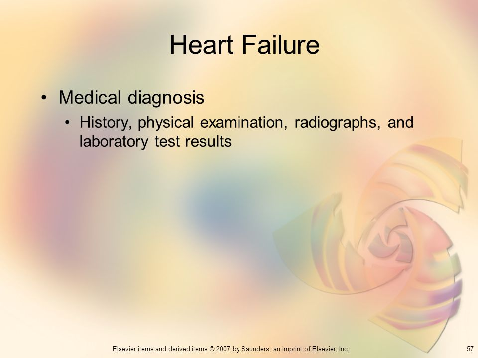 Heart Failure Medical diagnosis