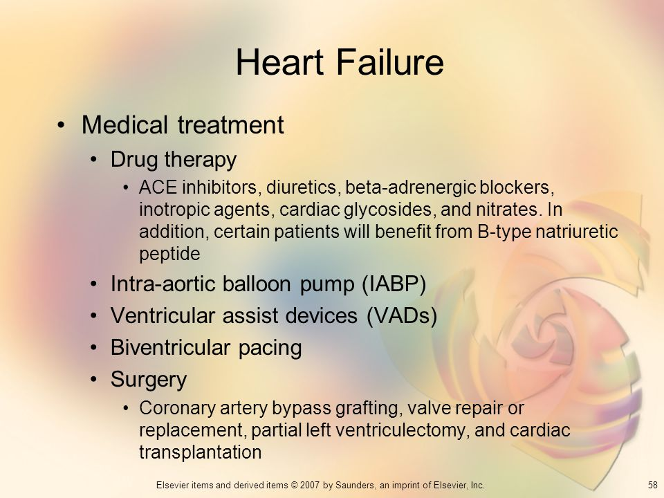 Heart Failure Medical treatment Drug therapy