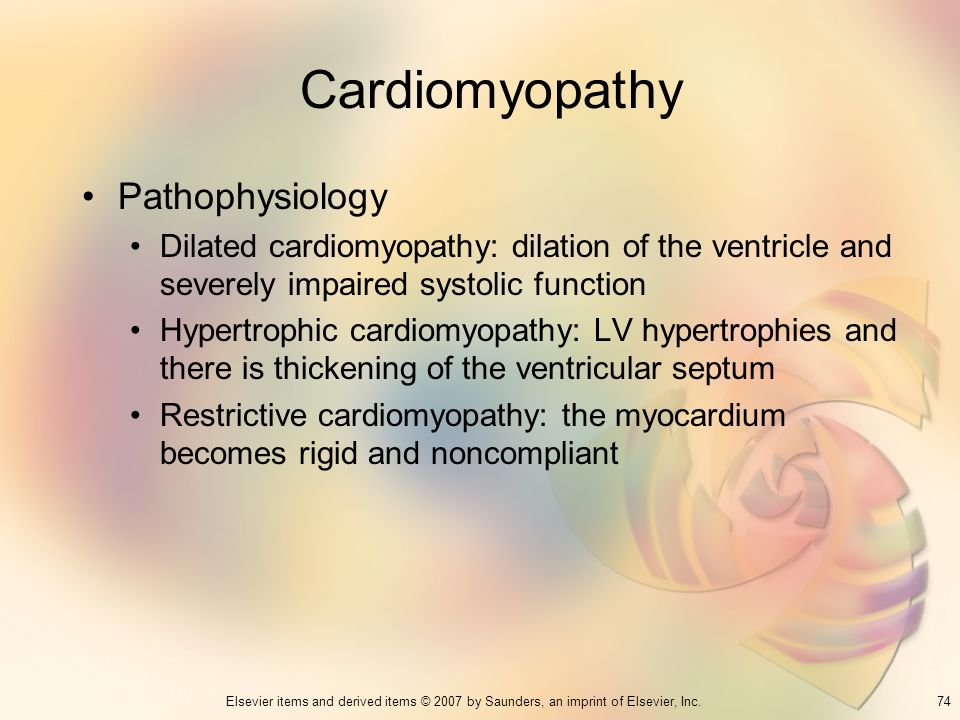 Cardiomyopathy Pathophysiology