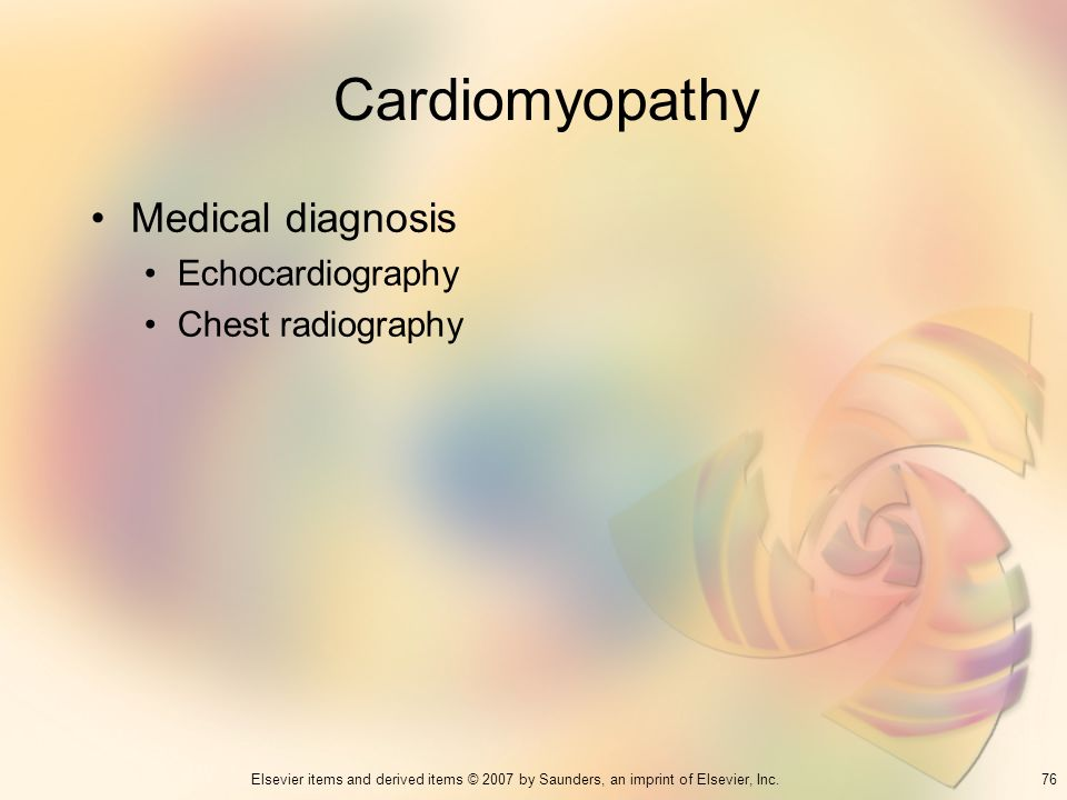 Cardiomyopathy Medical diagnosis Echocardiography Chest radiography