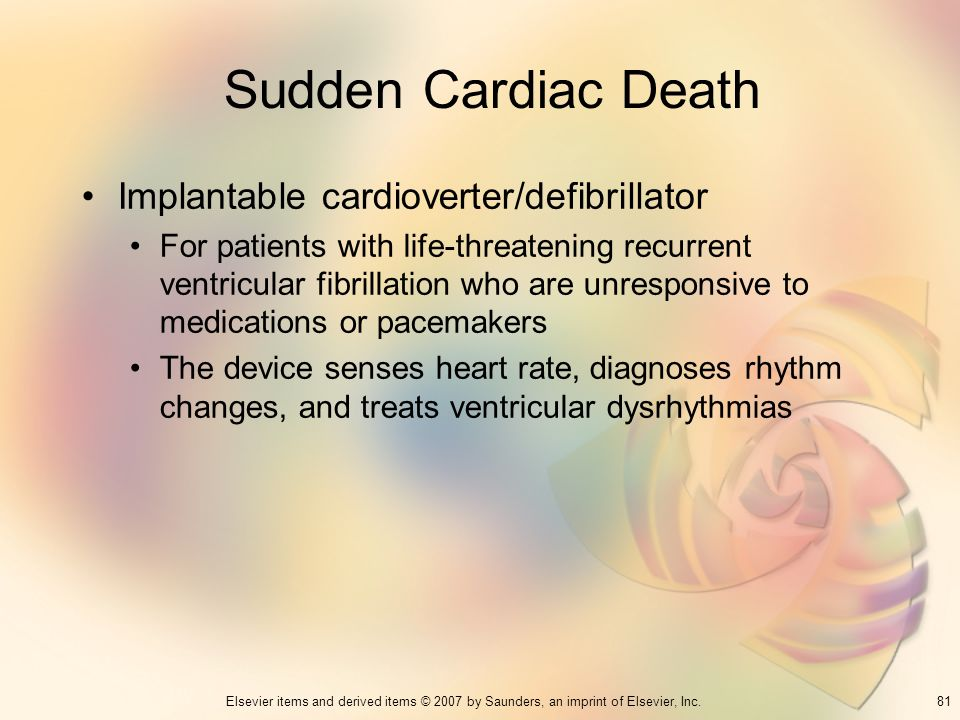 Sudden Cardiac Death Implantable cardioverter/defibrillator