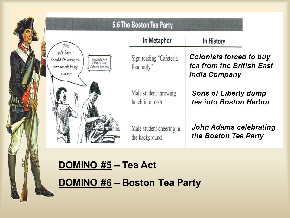 DOMINO #6 – Boston Tea Party