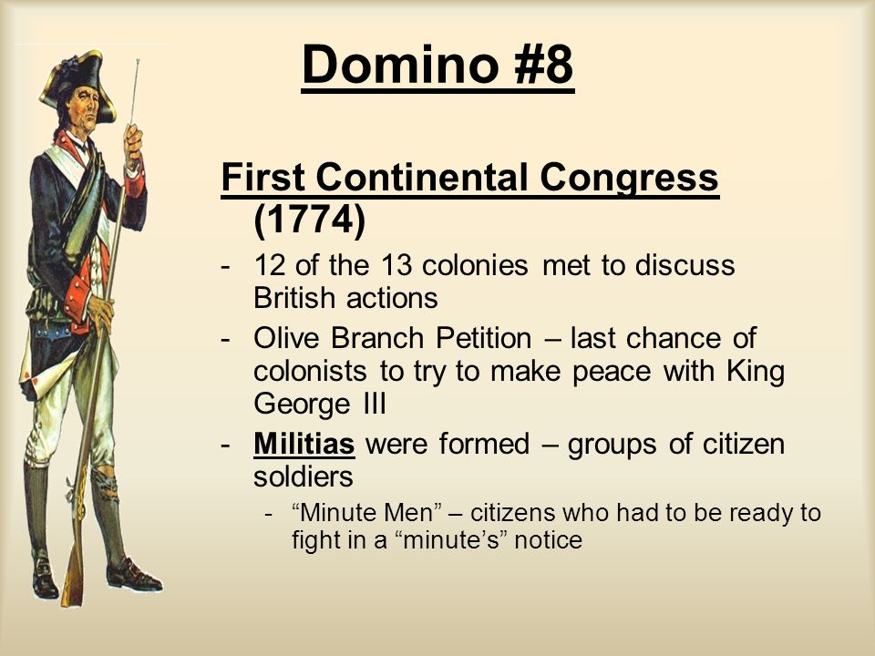 Domino #8 First Continental Congress (1774)