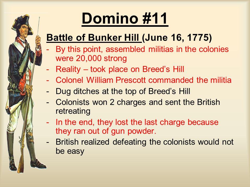 Domino #11 Battle of Bunker Hill (June 16, 1775)
