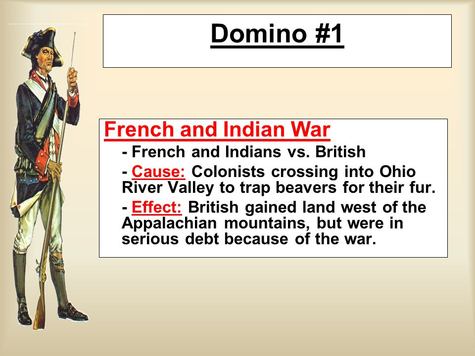 Domino #1 French and Indian War - French and Indians vs. British