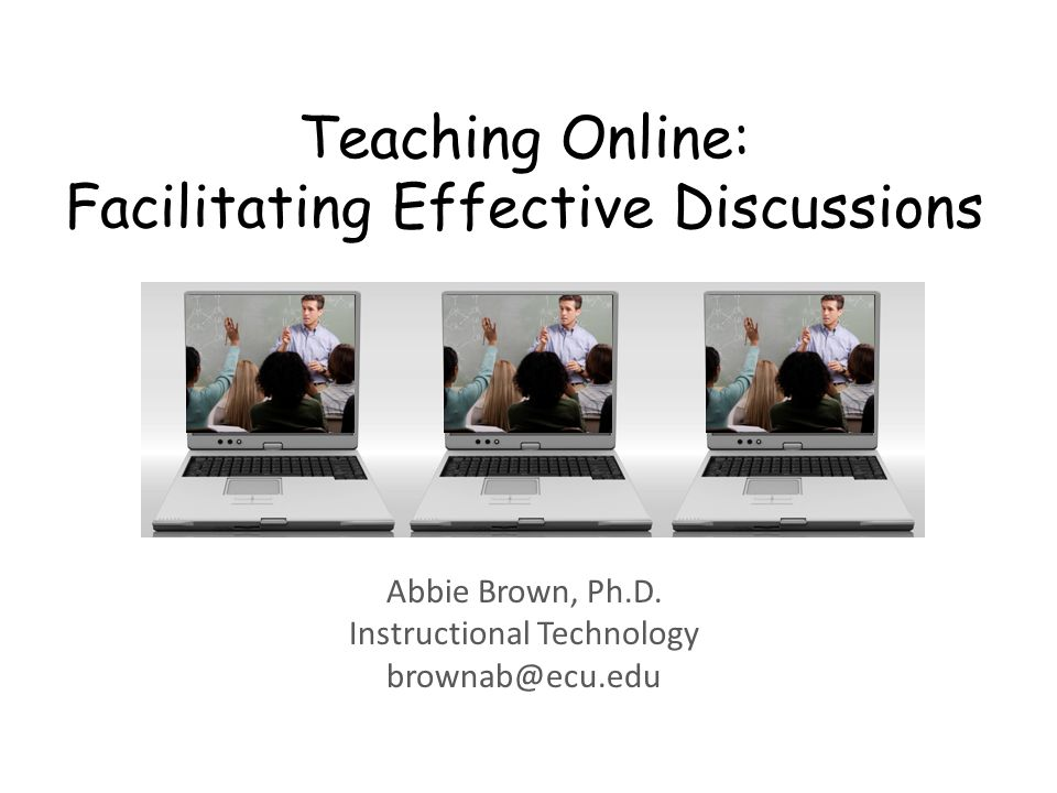 Teaching Online: Facilitating Effective Discussions