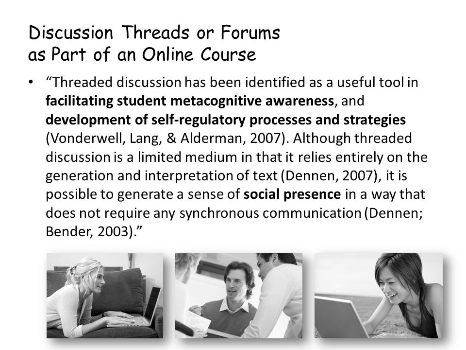 Discussion Threads or Forums as Part of an Online Course