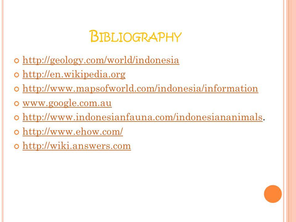 Bibliography http://geology.com/world/indonesia