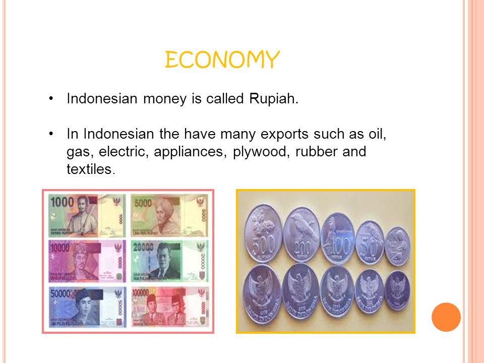 economy Indonesian money is called Rupiah.