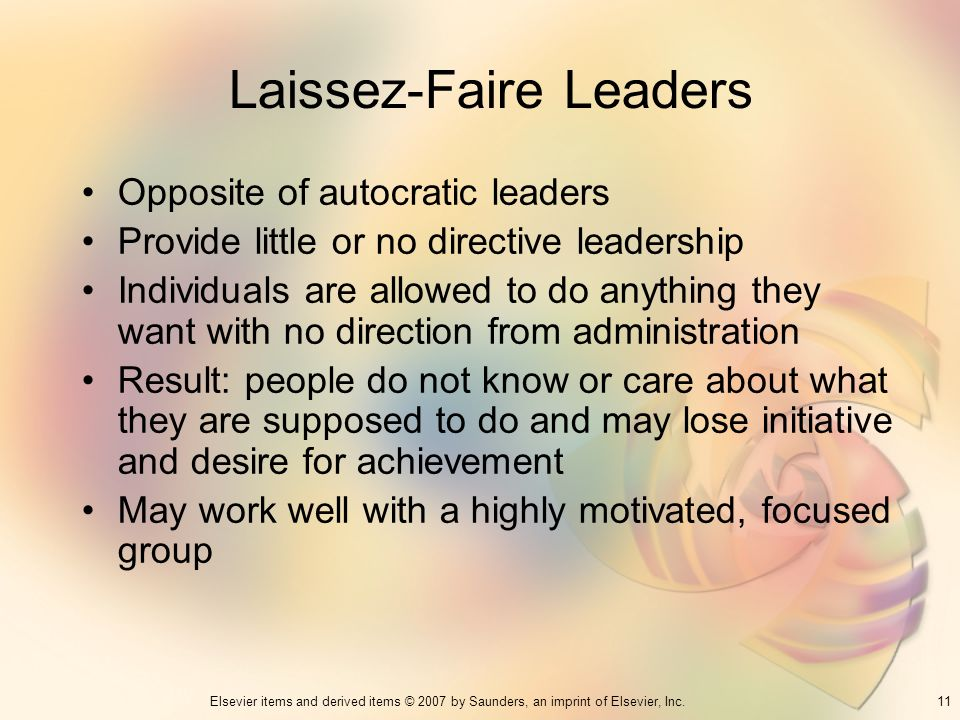 Laissez-Faire Leaders