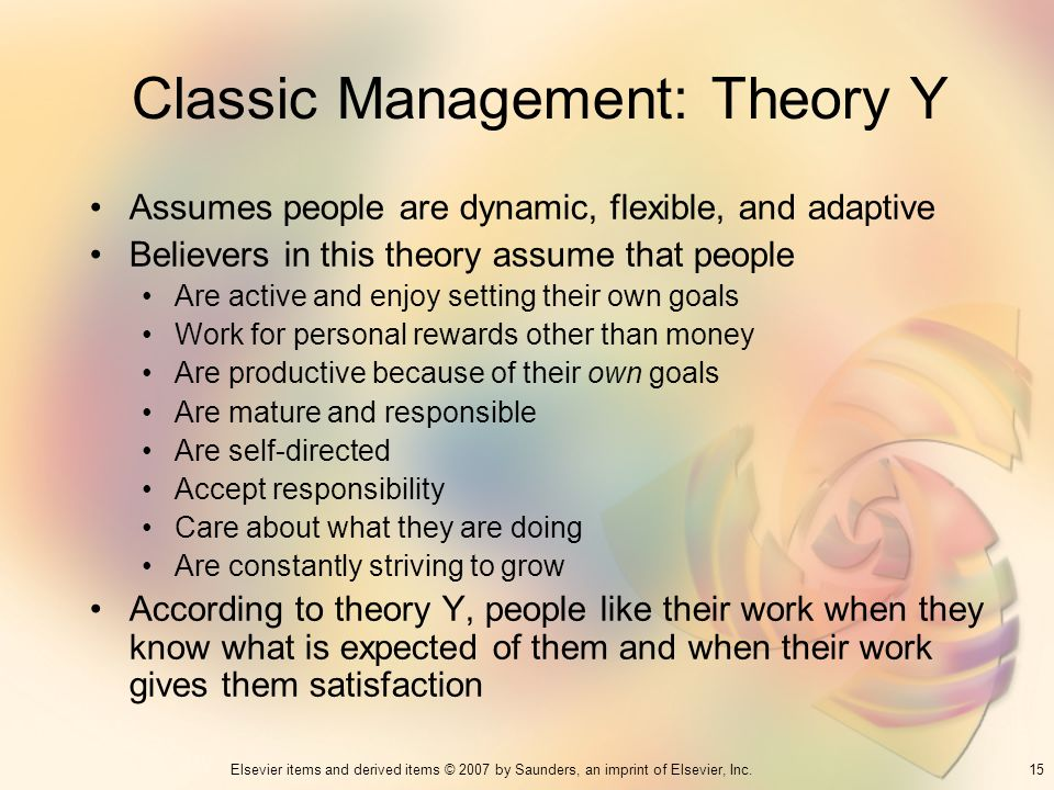Classic Management: Theory Y