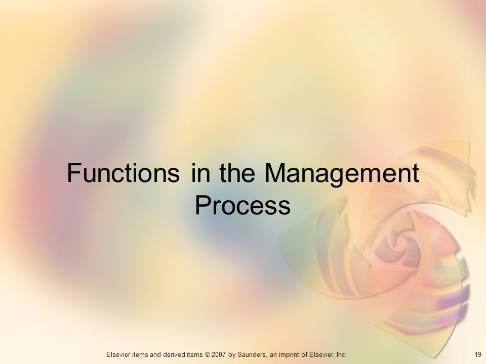 Functions in the Management Process