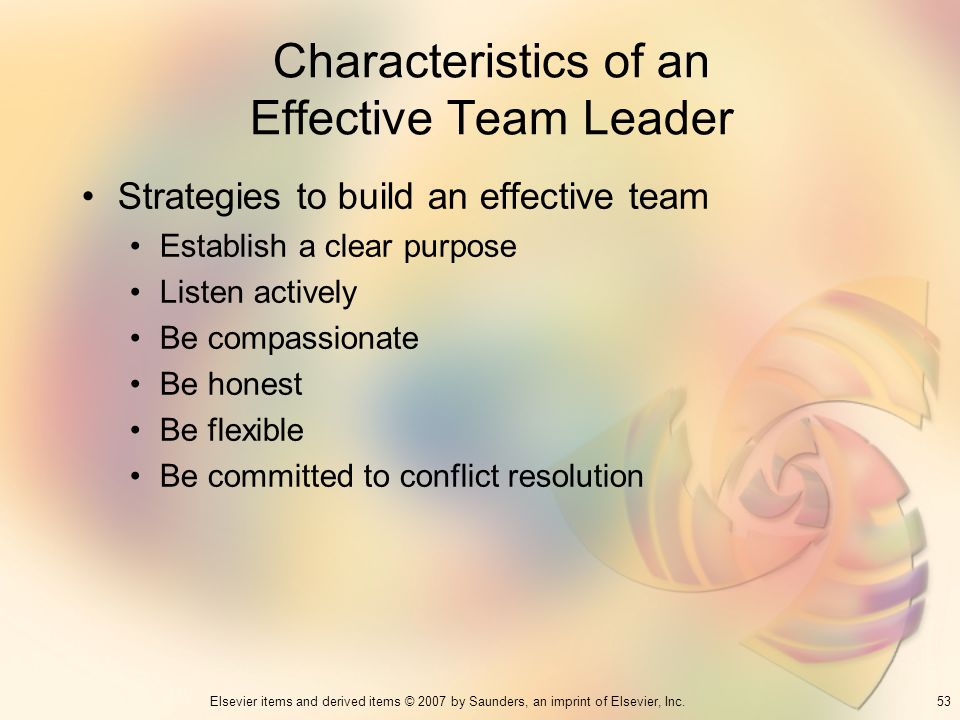 Characteristics of an Effective Team Leader