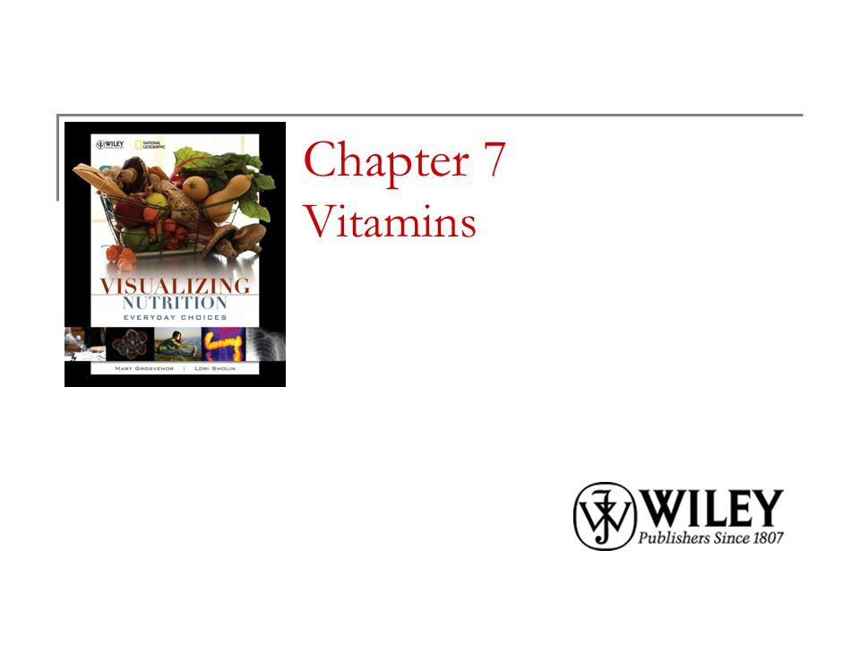 Chapter 7 Vitamins