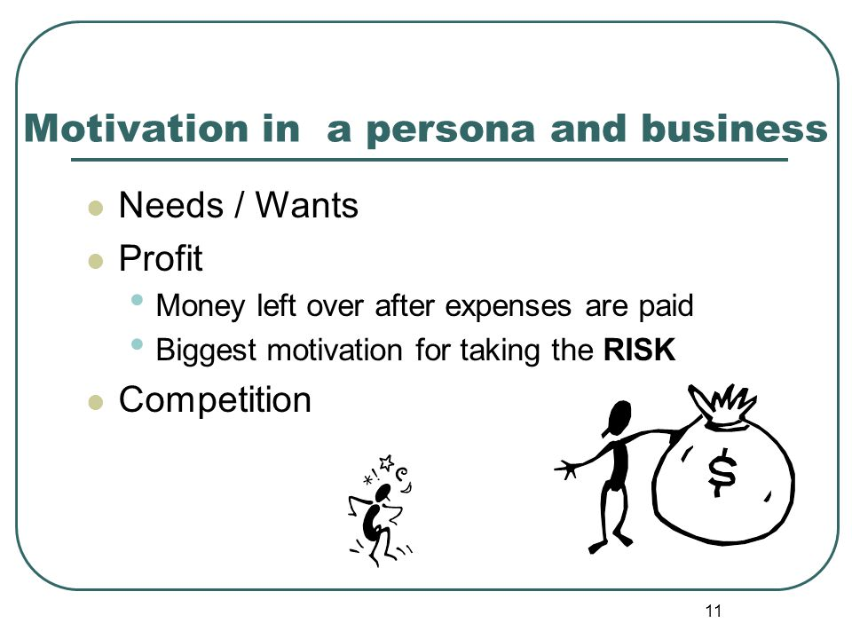 Motivation in a persona and business