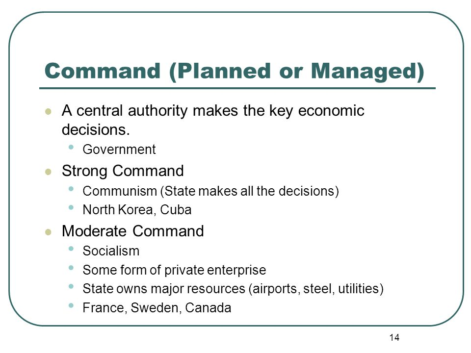 Command (Planned or Managed)