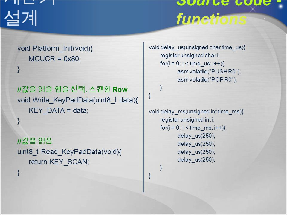 Source code - functions