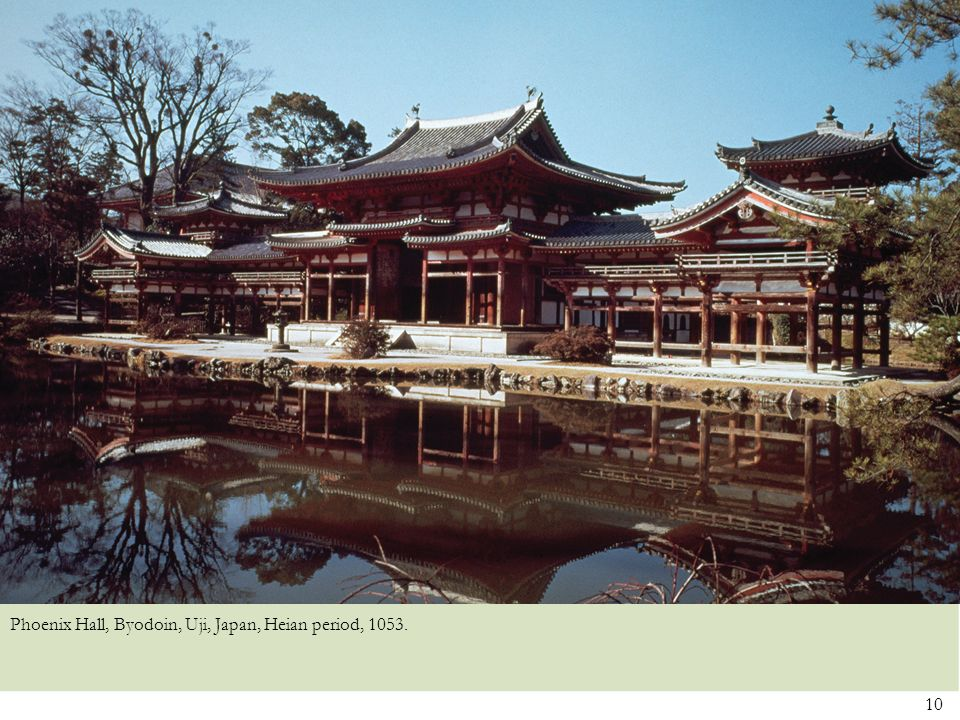 Phoenix Hall, Byodoin, Uji, Japan, Heian period, 1053.